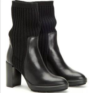 Aquatalia Imogen Black Calf Sweater Boot
